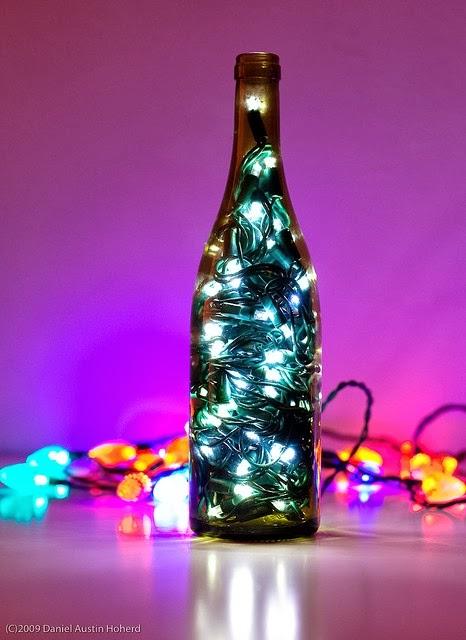 Отличная идея: гирлянда в стеклянной бутылке своими руками