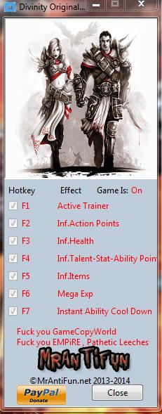 Divinity Original Sin V1.0.37.0 Trainer+8 MrAntiFun