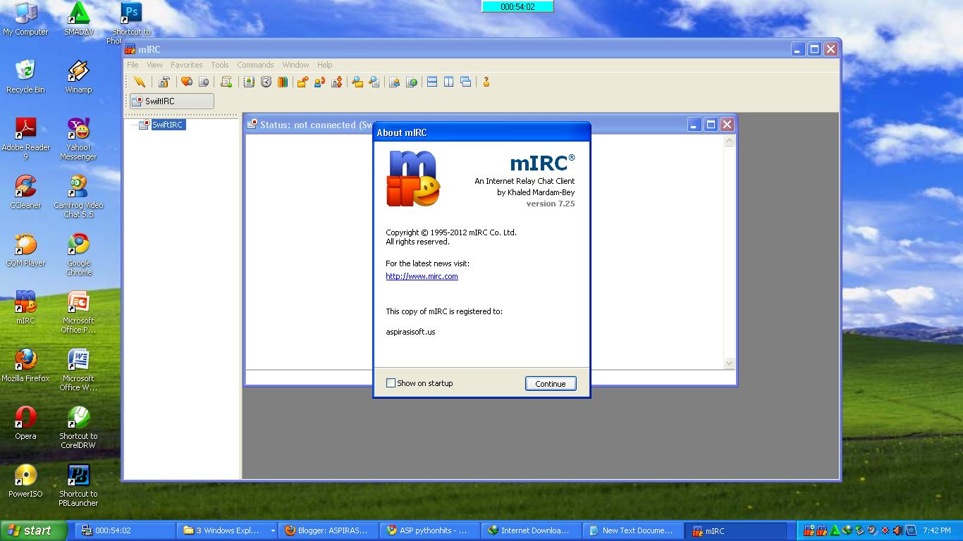 mirc 7.32 registration code free