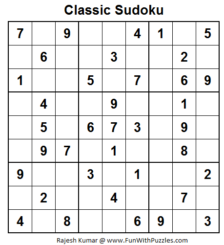 Classic Sudoku (Fun With Sudoku #25)