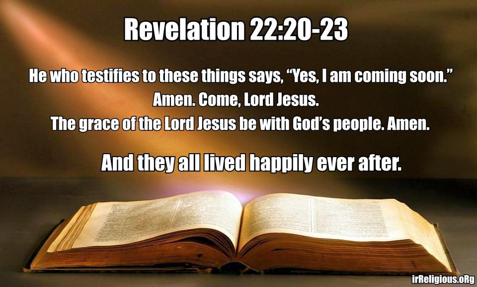 Funny Bible Last Verse - And they all lived happily ever after