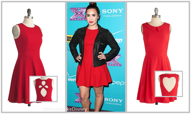demi lovato modcloth red dress inspired outfit dressing
