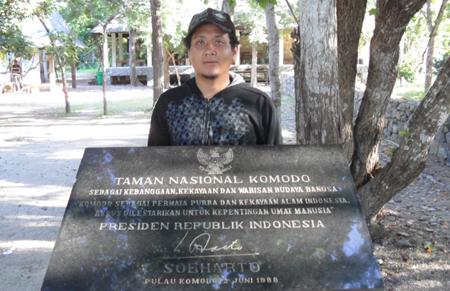 Monumen peresmian pulau Komodo