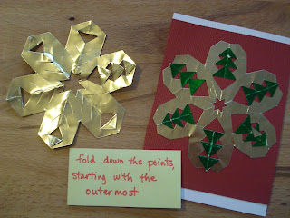 easy christmas card for kids: crafting with 3rd graders – folded foil christmas cards