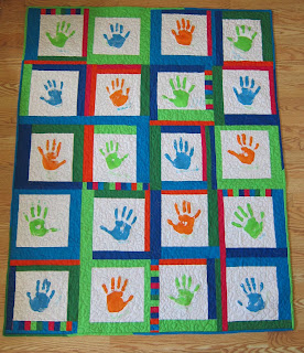 hand print solids pieced binding