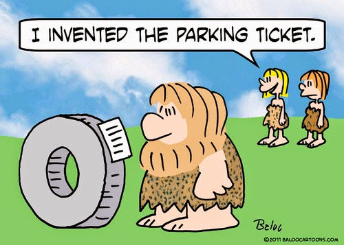 Father on Son, Parking Ticket Funny Comic Images, Cartoons
