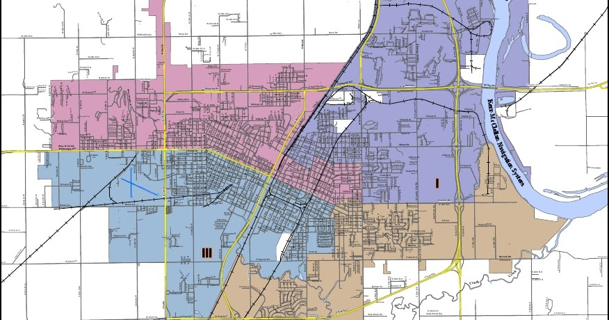 Muskogee MayorCity Council candidates and ward map
