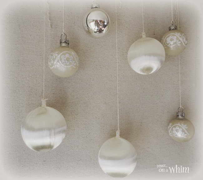 White Vintage Ornaments from Denise on a Whim