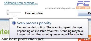 User-Sensitive Priority Scanning