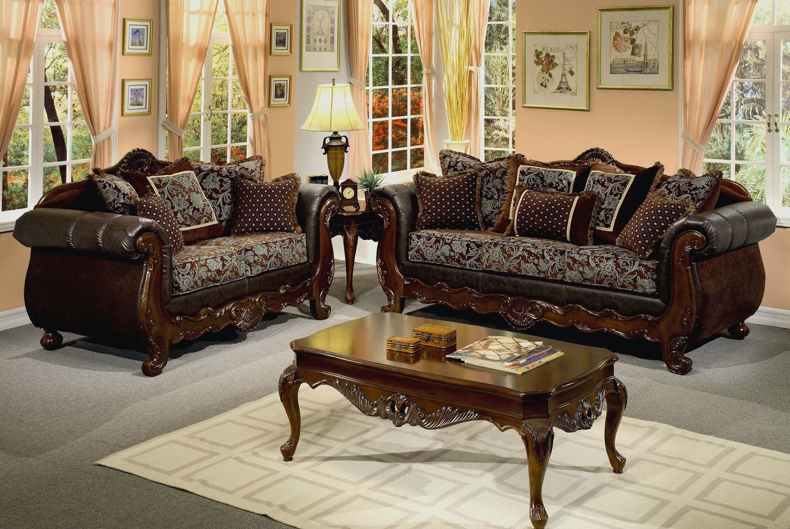Wooden Living Room Furniture Sets 1600 x 1072