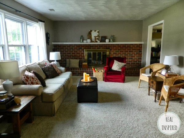 Fall living room and mantel