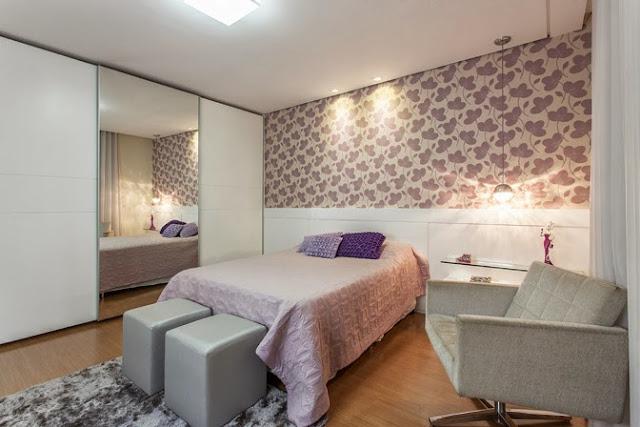 Dormitorios y paredes empapeladas con murales o vinilos Papeles vinilicos para dormitorios