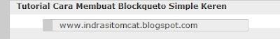 Cara Membuat Blockquote Simple Keren
