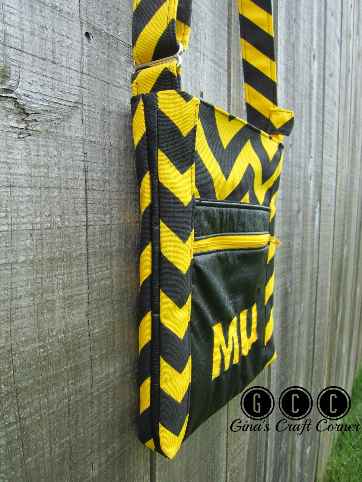 MU Crossbody w/ Reverse Applique-Tutorial by Gina's Craft Corner