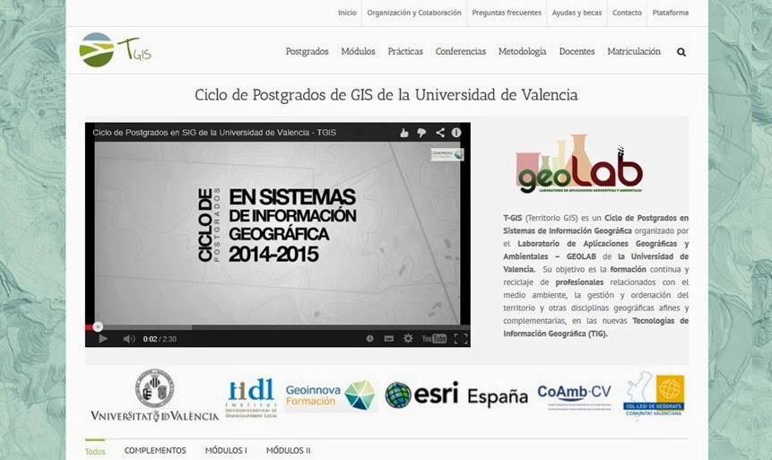 Blog idee la universidad de valencia y geoinnova ponen en for Universidad de valencia online
