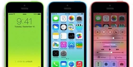 O iPhone 5C é totalmente compatível com o iOS7