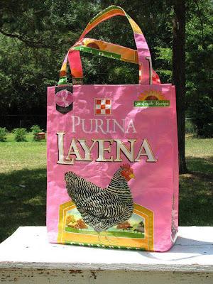reciclagem -  sacola com saco de ração
