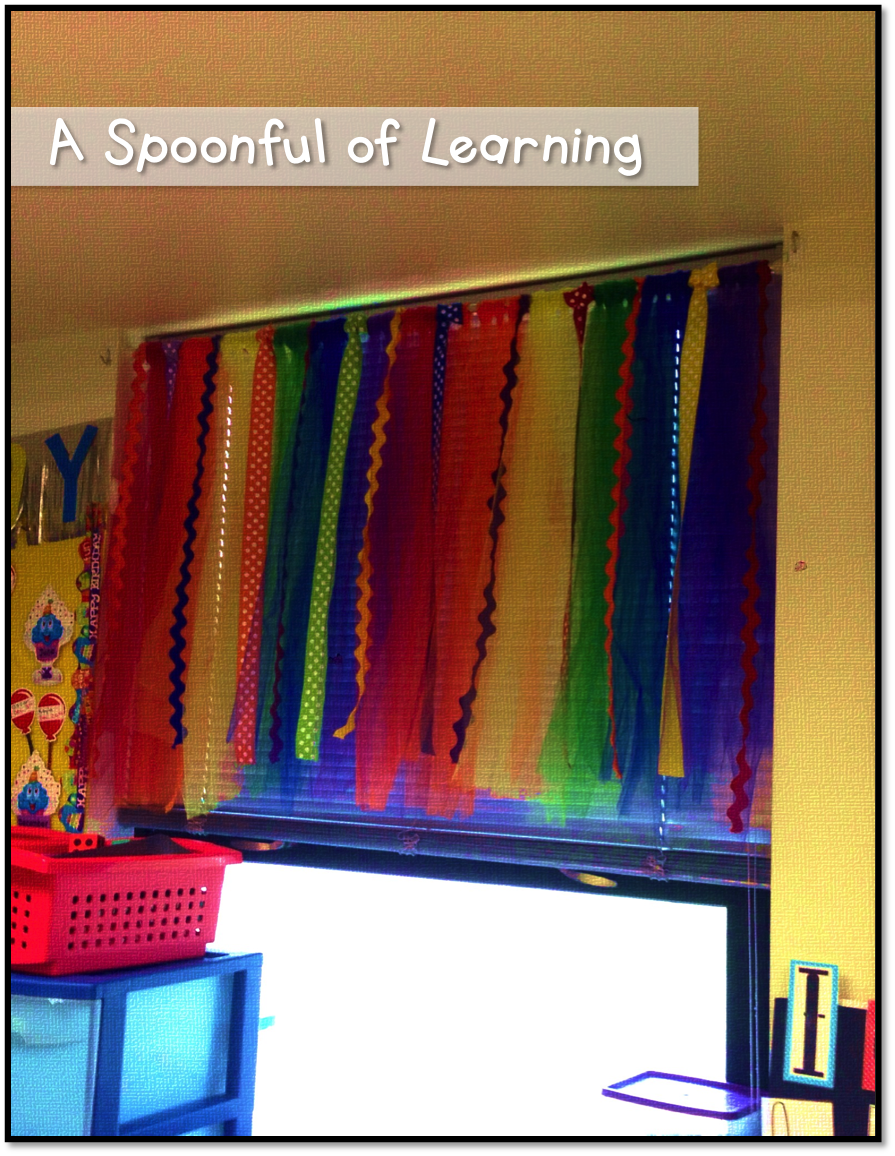 Classroom Curtain Ideas : A spoonful of learning diy classroom curtains no sewing