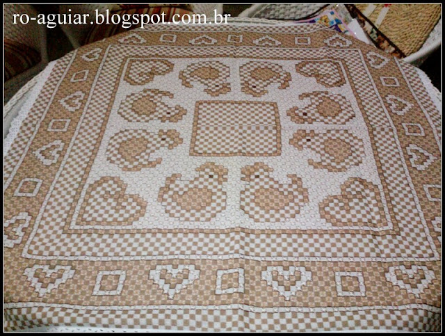 bordado espanhol - bordado xadrez