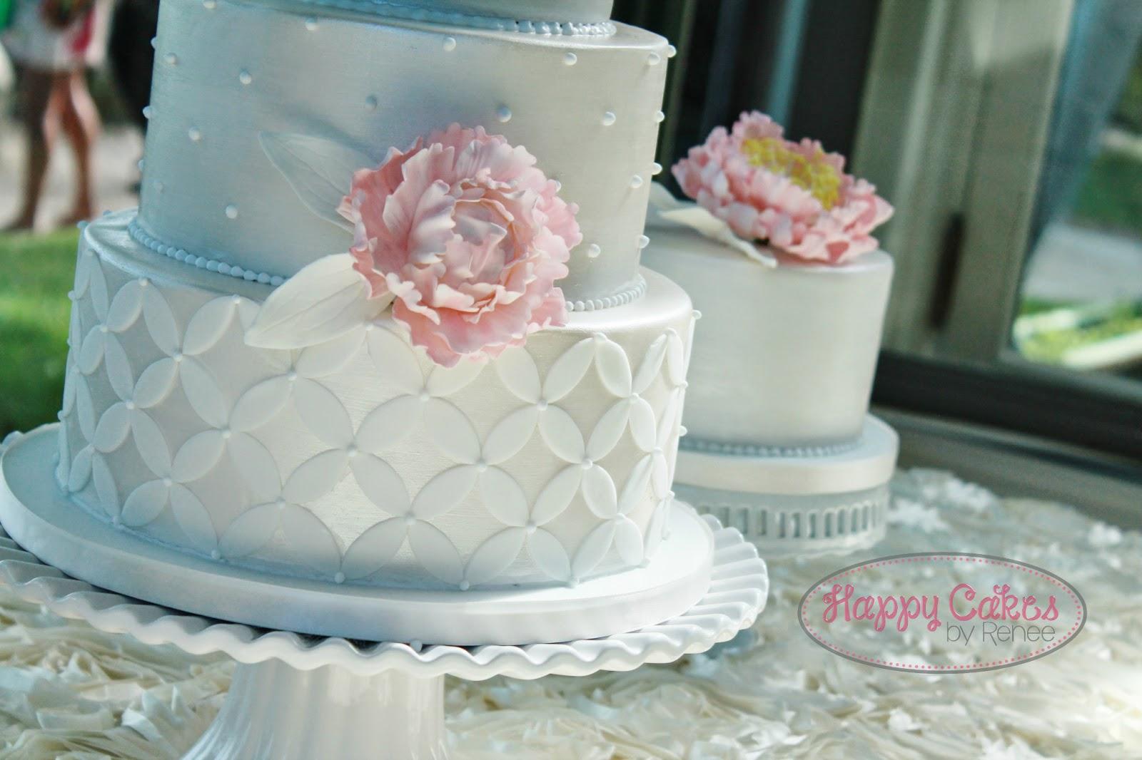 White Satin, Pink Peony Cake! – Renee Conner Cake Design