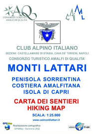 La nuova Carta dei sentieri CAI dei Monti Lattari - The new hiking map