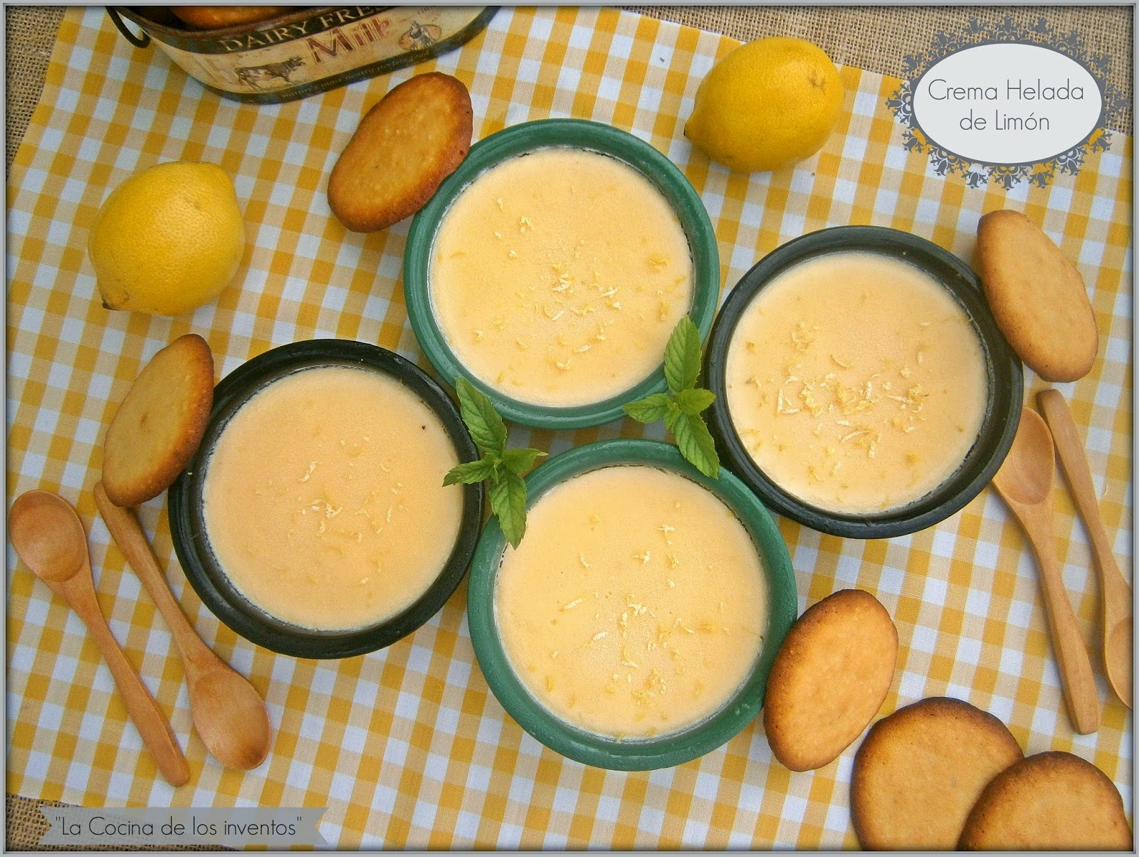 Crema Helada De  Limón {reto Tía Alía}