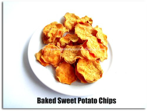 Priya's Versatile Recipes: Baked Sweet Potato Chips