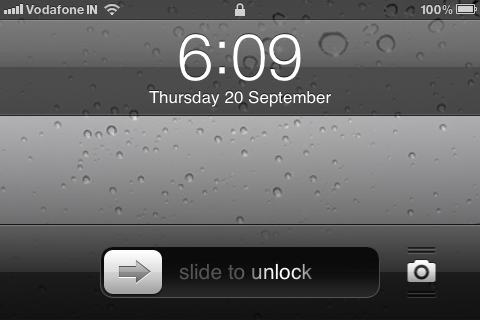 iphone lockscreen landscape mode