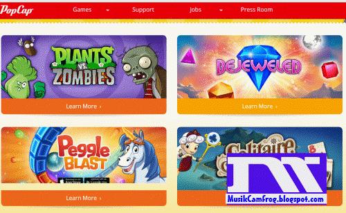 Situs game online terbaru PopCap