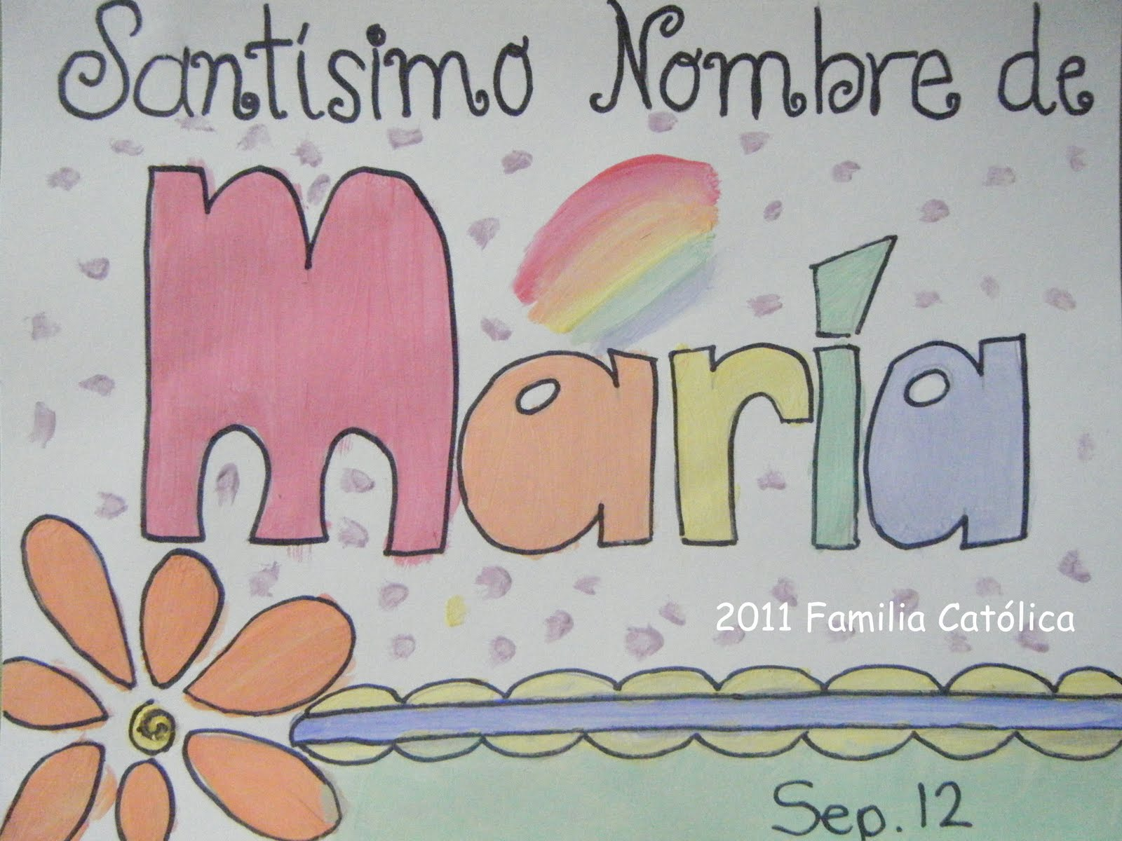 Santisimo Nombre de María: Páginas para colorear