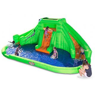 Crocodile Isle Inflatable Water Slide