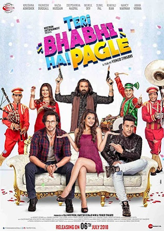 Poster Of Bollywood Movie Teri Bhabhi Hai Pagle 2018 300MB Pdvd Full Hindi Movie