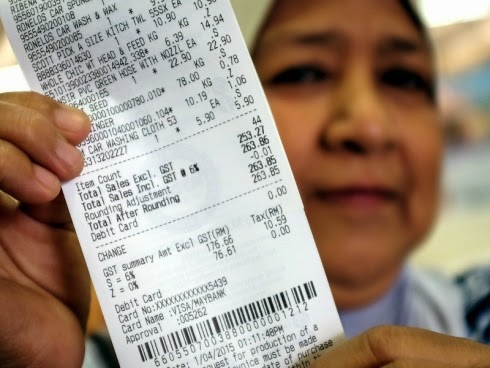 Resit Pembayaran Mydin Papar Kos  GST