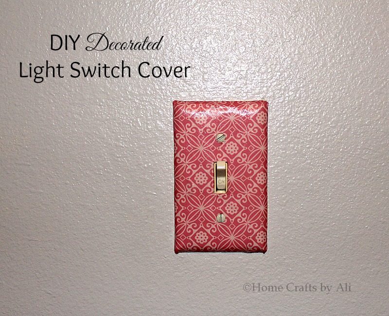 DIY Decorated Light Switch Cover Home Crafts by Ali