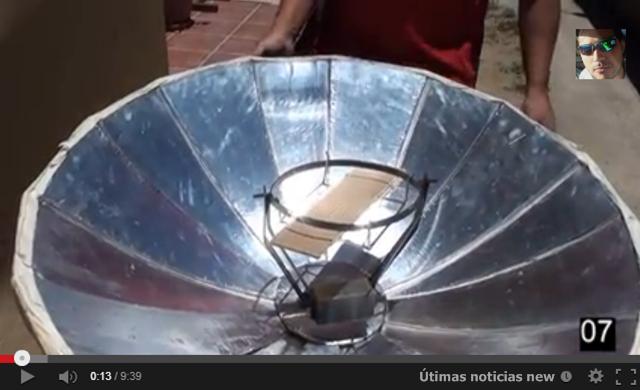 Cocina solar reciclable en acci n ltimas noticias new for Planos para cocina solar parabolica