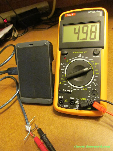 Waka Waka Power: Solar Lantern And Mobile Charger, On Multimeter