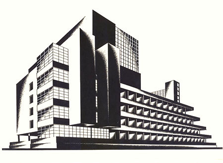 Iakov Chernikhov. Ciclos Constructivistas. «Construction of Architectural and Machine Forms»  1925-1931. Doctor Ojiplatico