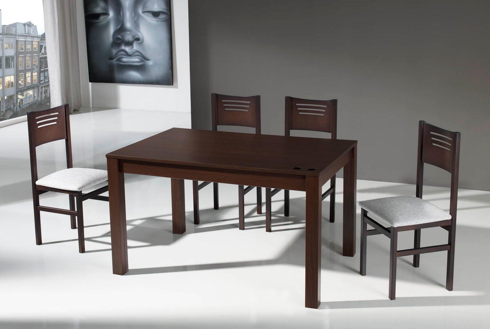 Muebles eduardo tallero mesas y sillas - Mesa comedor wengue ...