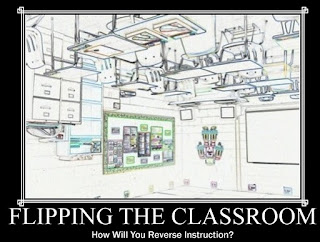 picture of a classroom flipped upside down