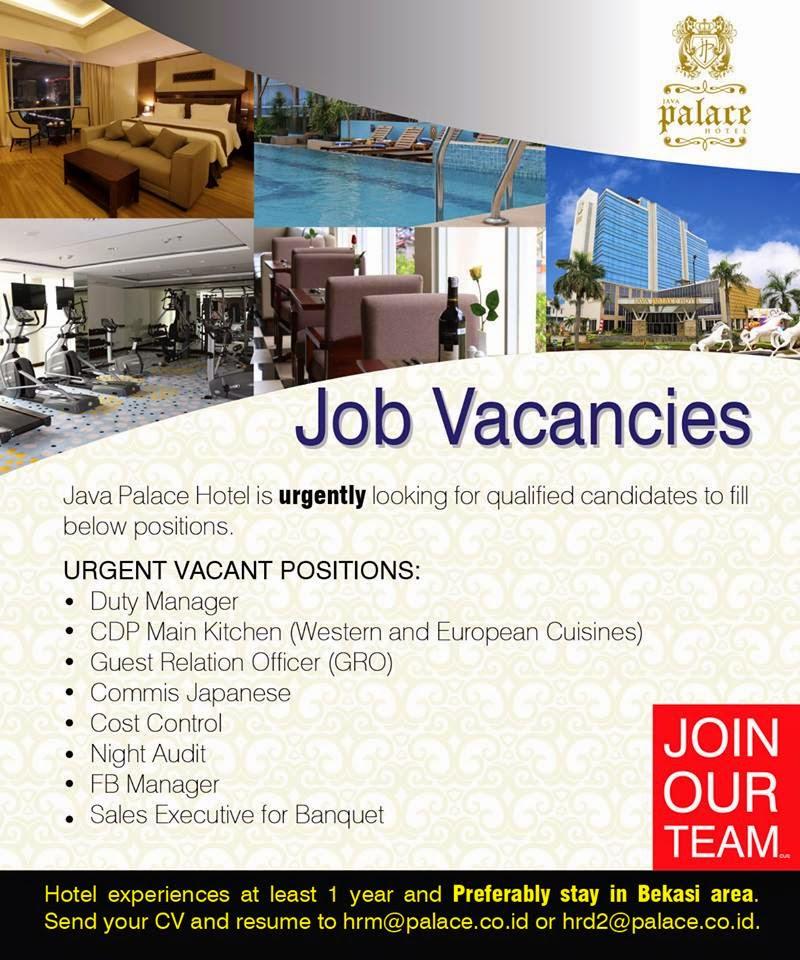 Job Vacancy Jakarta Sales Office Hotel