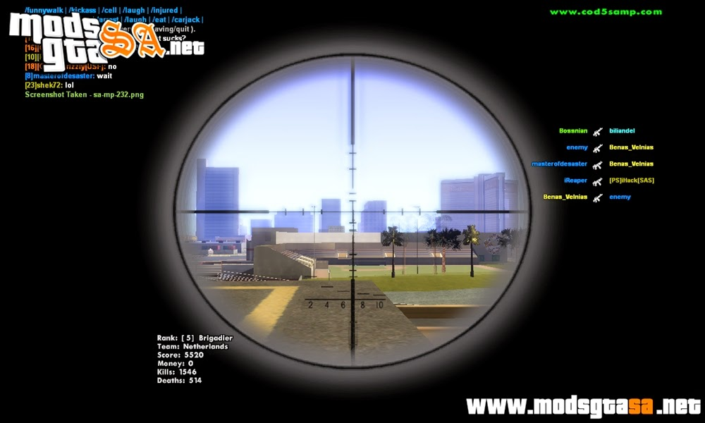 SA - Mod Sniper Scope