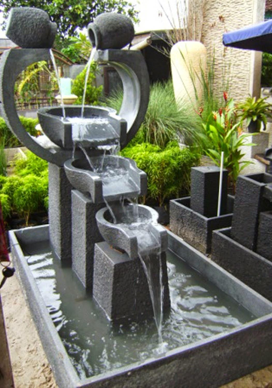 Jual miniatur air terjun | kolam  minimalis untuk di dalam rumah atau taman kecil | solusi pertamanan, supllier tanaman dan rumput