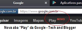 """Nova aba """"Play"""" da Google!"""