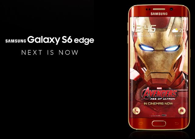 Foto del Galaxy S6 Edge Iron Man, edizione speciale