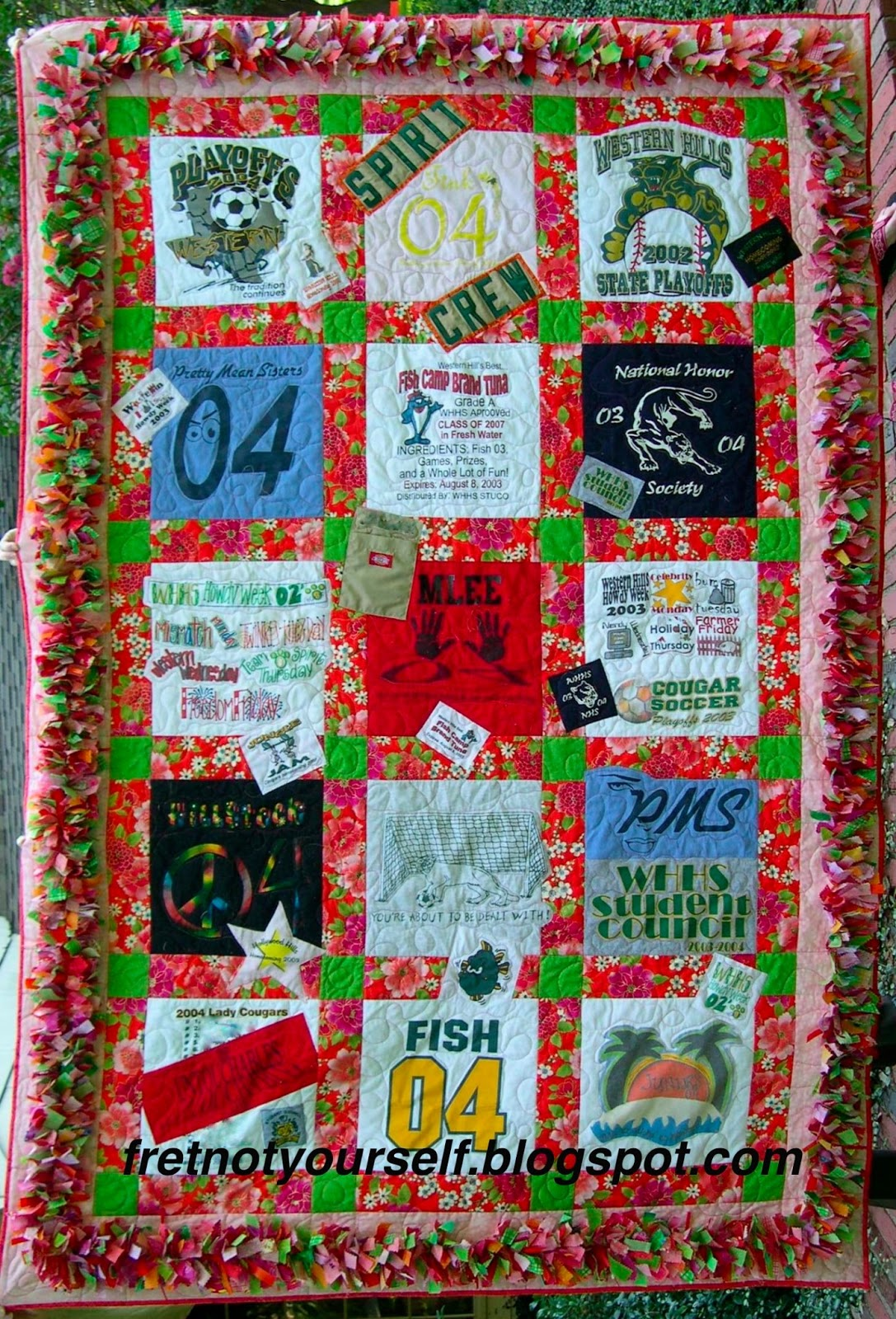 Fret Not Yourself: T-Shirt Quilts