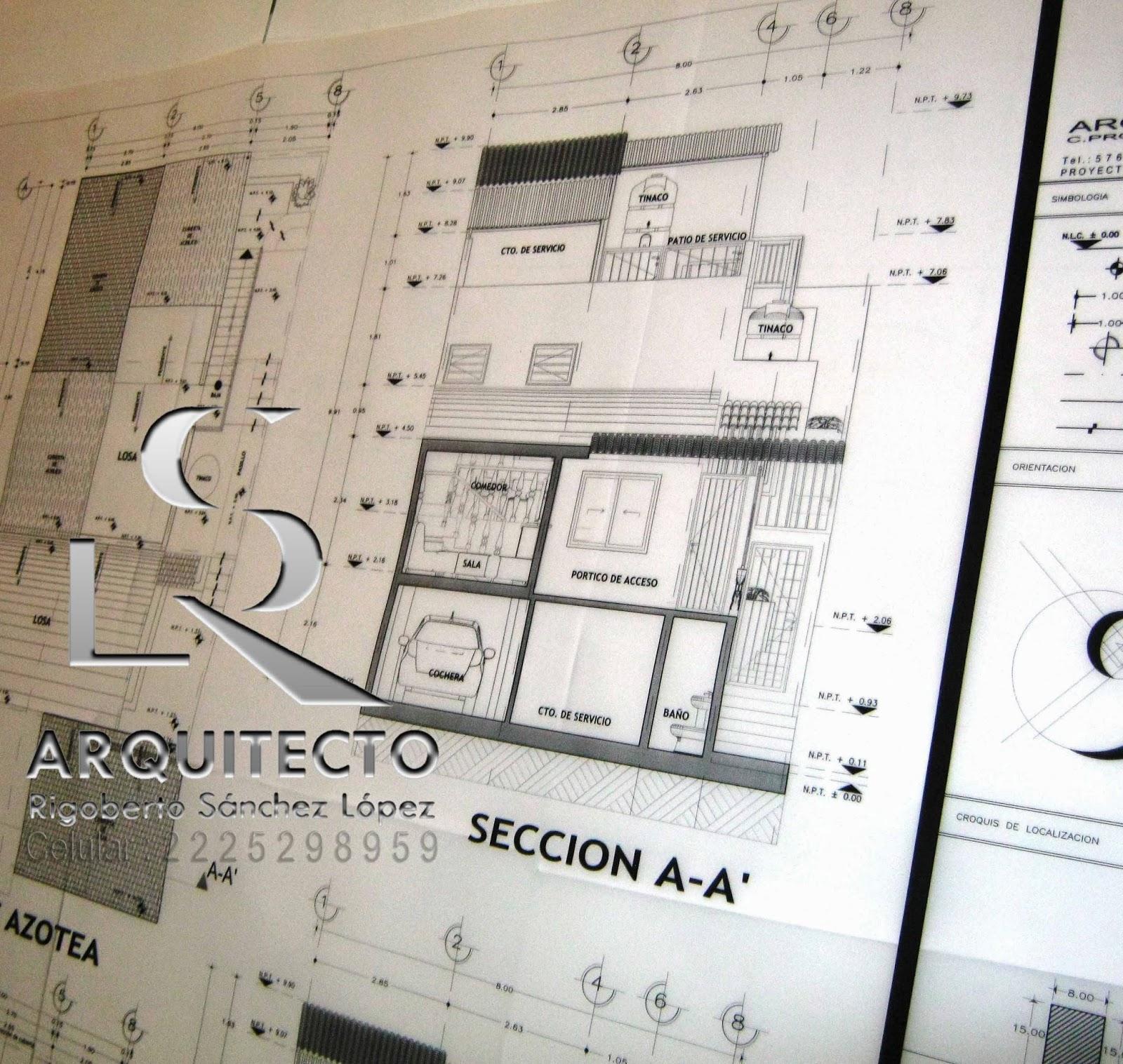Planos basicos para construir casas for Ejes arquitectonicos