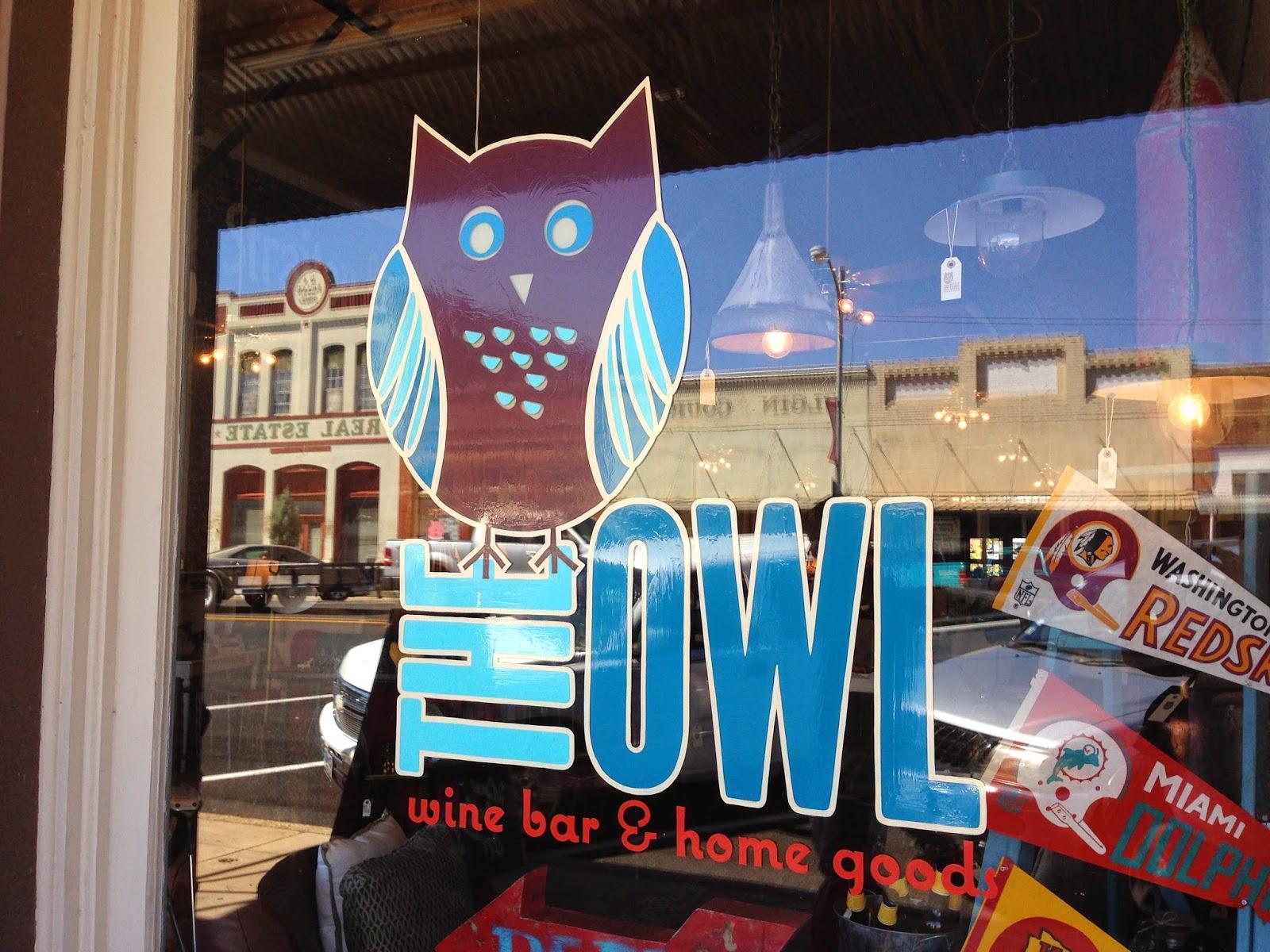 The Owl Elgin TX Home Goods Wine Bar