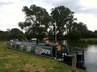 Third time lucky. Moored at Pinkhill.