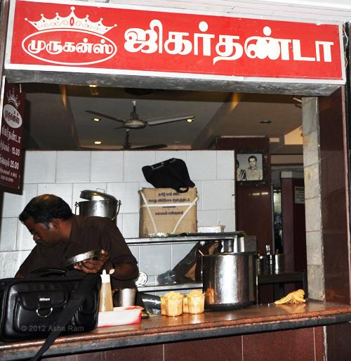 Peg & Pig: Jigarthanda Drink @ Murugan Idli Shop