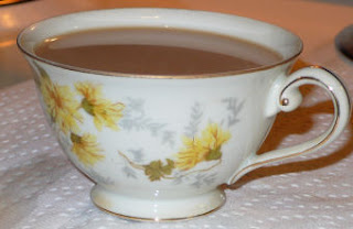 photo of a cup of tea in my new teacup